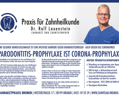 Zahnarzt Bremen - Parodontitis Prophylaxe