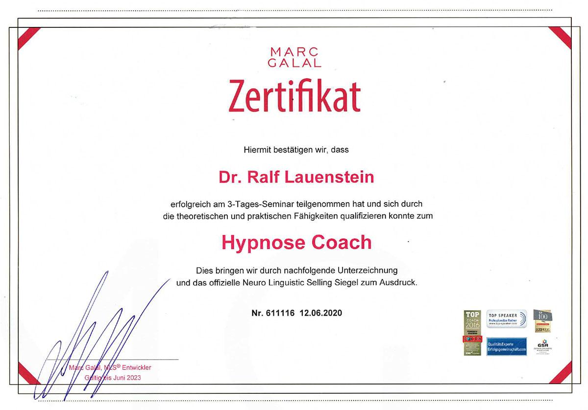 Dr. Lauenstein Hypnose-Coach